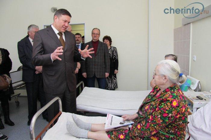 Визит губернатора Олега Кувшинникова в Череповецкий район - больница