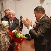 Визит губернатора Олега Кувшинникова в Череповецкий район - поздравление