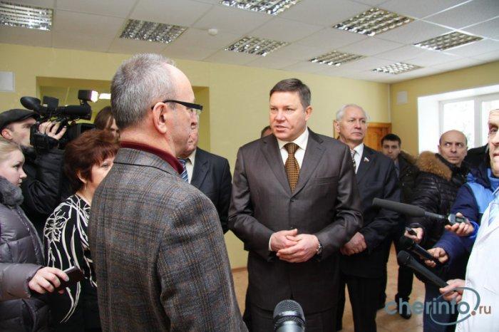 Визит губернатора Олега Кувшинникова в Череповецкий район - интервью