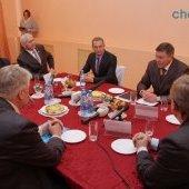 Визит губернатора Олега Кувшинникова в Череповецкий район - руководство