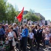 Бессмертный полк - 2016, площадь Металлургов