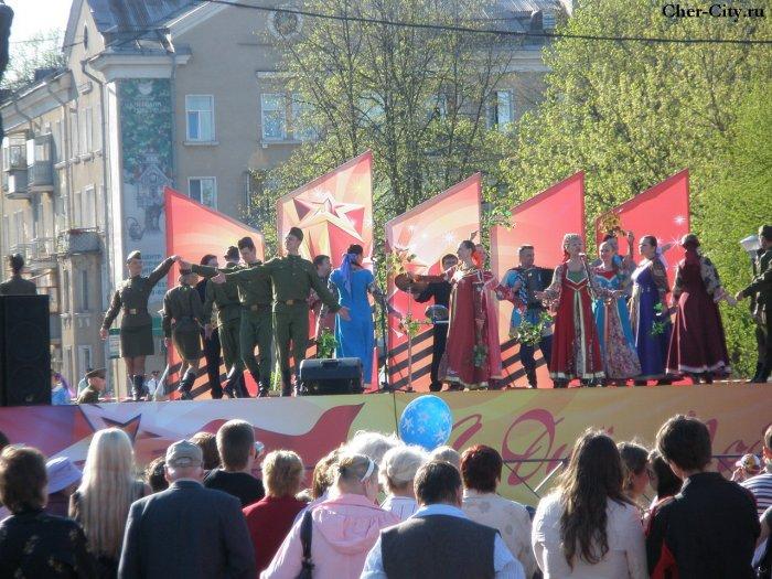 Праздничная сцена, 9 мая 2009 г.