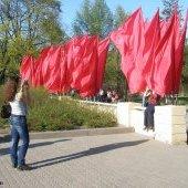 Девушки и флаги, 9 мая 2009 г.