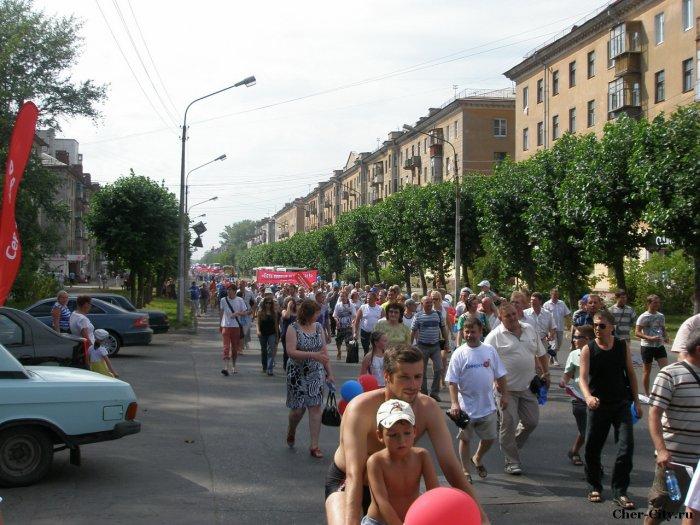 Марш поколений металлургов, колонна