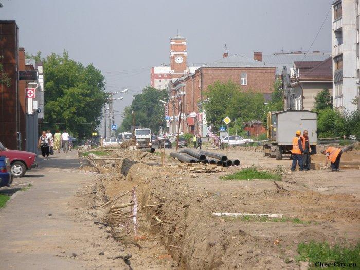 Реконструкция улиц Набережная-Ленина - вид на Советский проспект