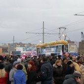 Открытие Ягорбского моста, трамвай