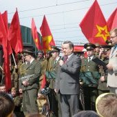 Поезд Победы, выступает Г. Шевцов