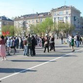 Площадь Металлургов, 9 мая 2009 г.
