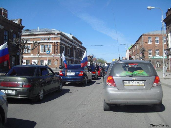 Автопробег 9 мая 2011, перекресток